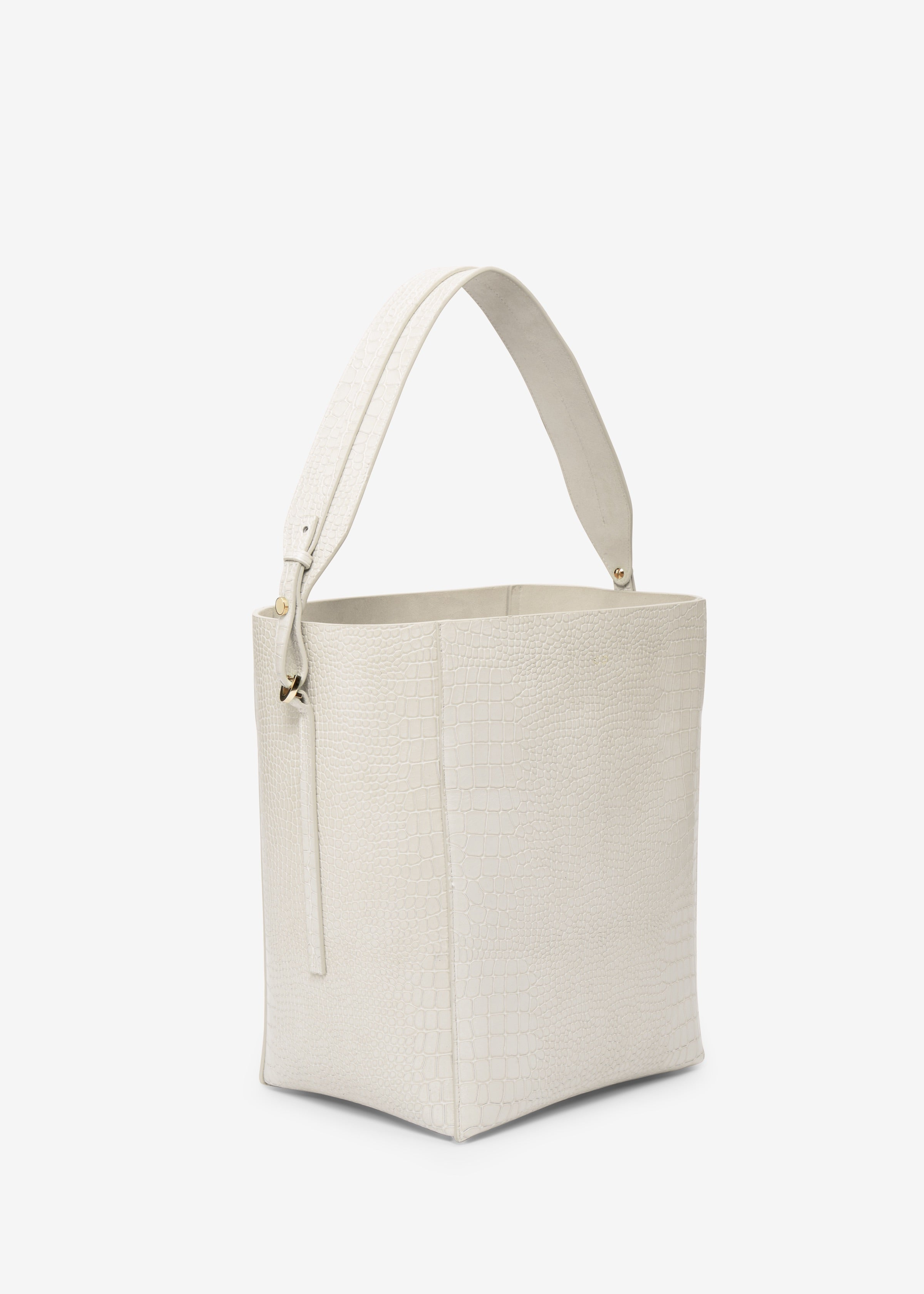 Bucket Bag in Embossed Leather