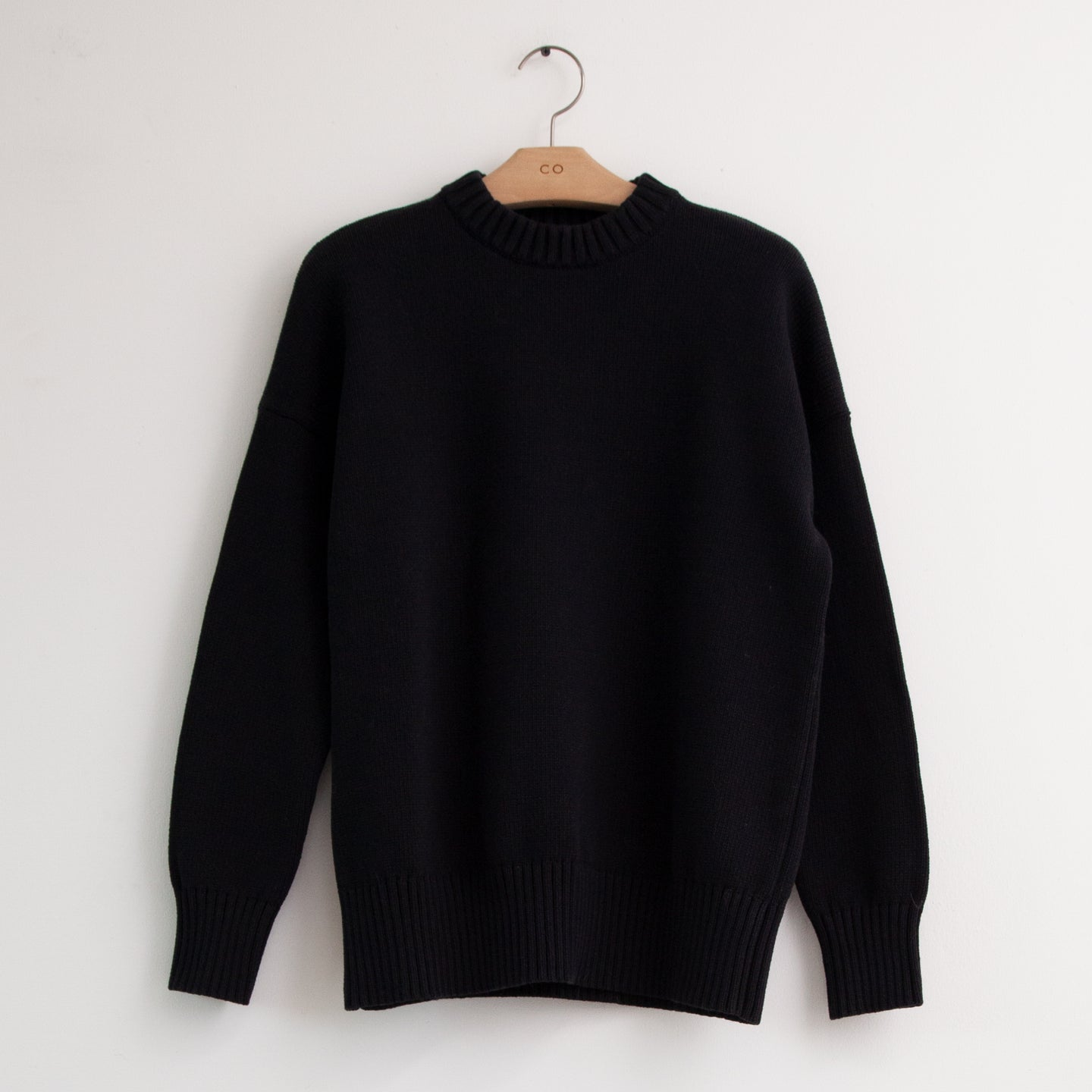 CO - Oversized pull over sweater in black cotton