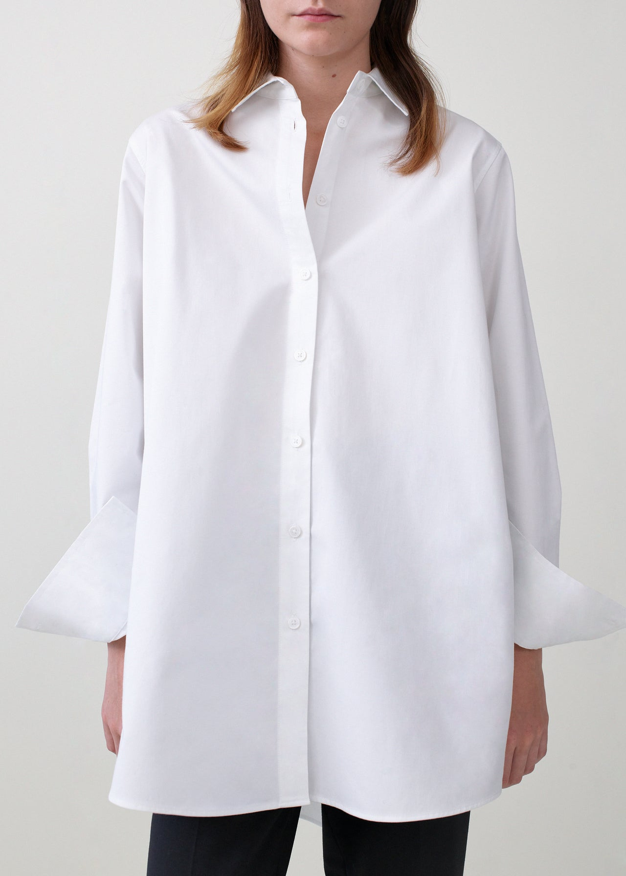 A-Line Button Down Shirt - White