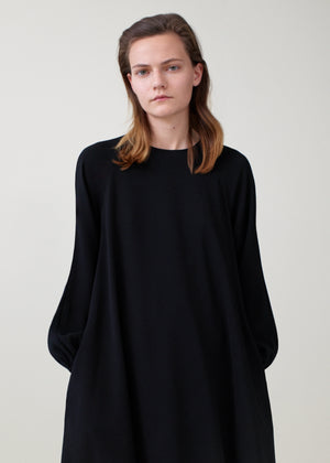 Peasant Sleeve Raglan Dress - Black - Co Collections