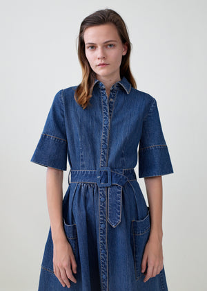 Denim Dress - Denim - Co Collections