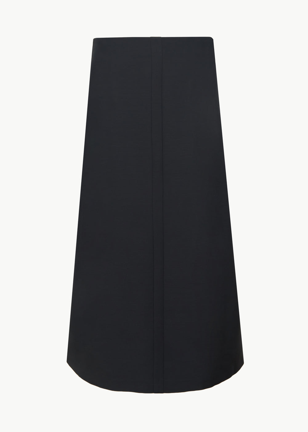 Center Seam Skirt in Viscose Wool - Black - CO