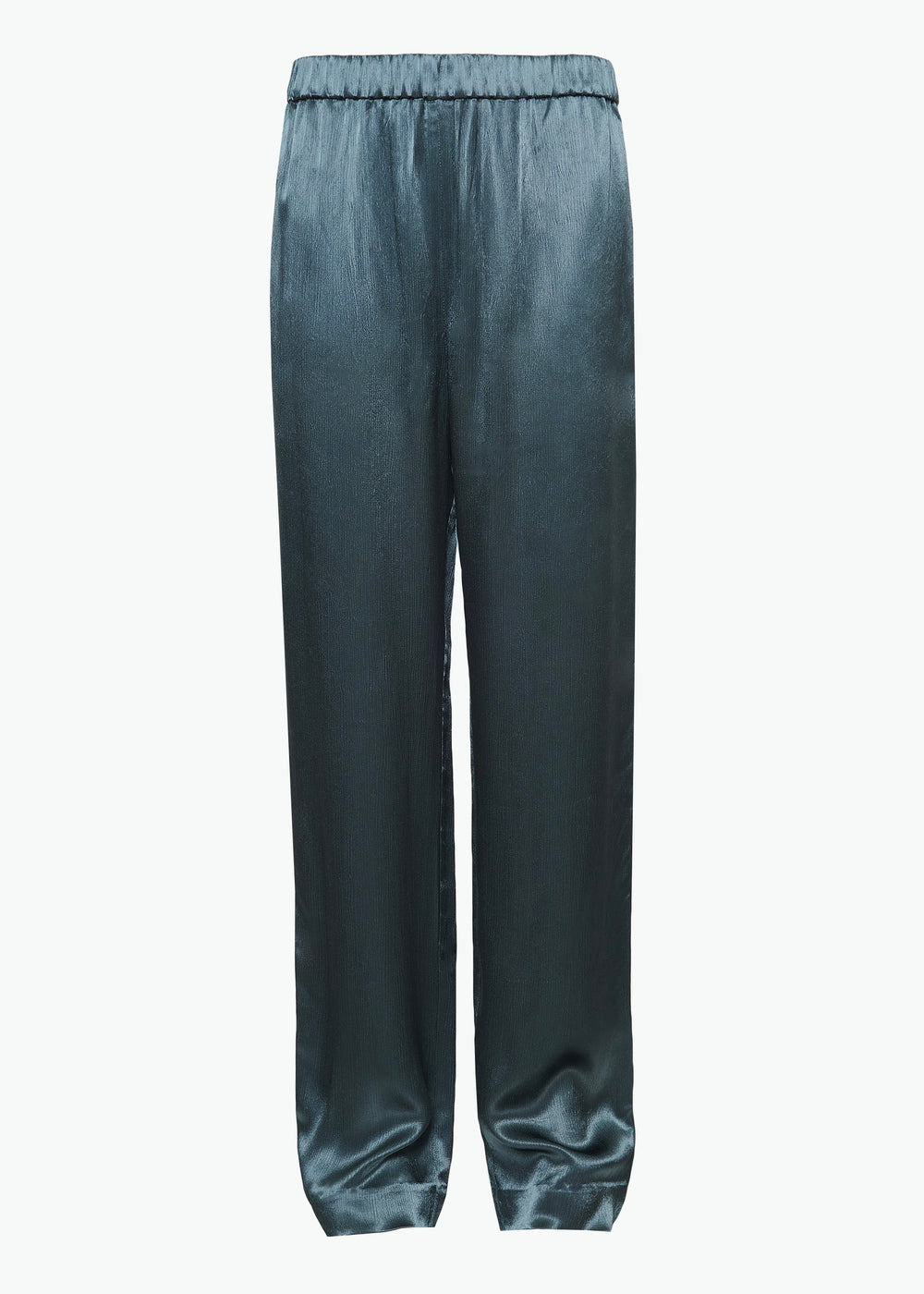 Elastic Waistband Pant in Crinkle Viscose - Teal - CO
