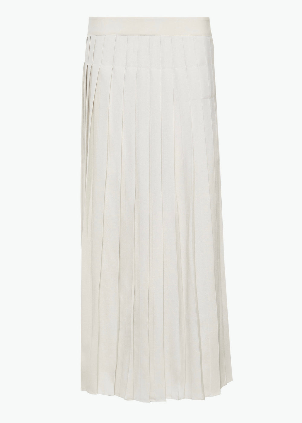 Pleated Skirt in Viscose Crepe - Cream - CO