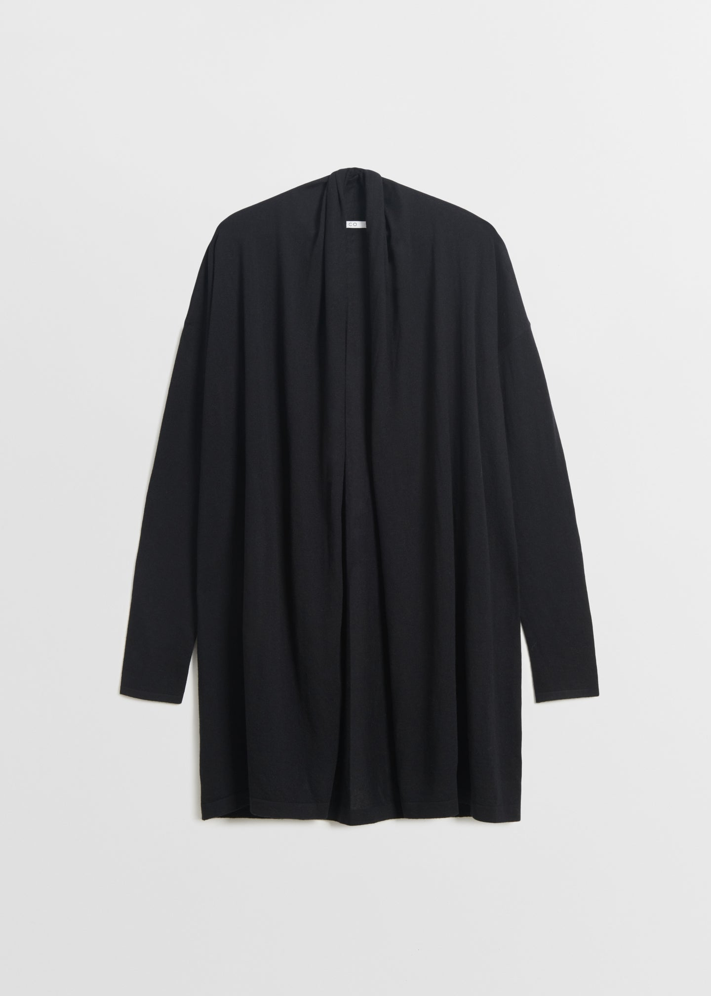 CO - Shawl Collar Cardigan in Fine Cashmere - Black