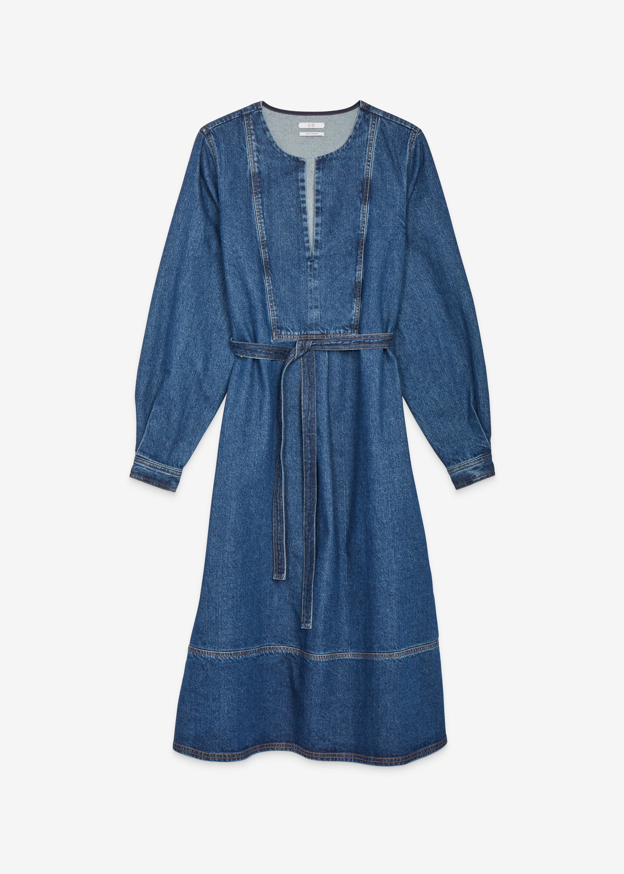 Long Sleeve Denim Dress - CO Collections