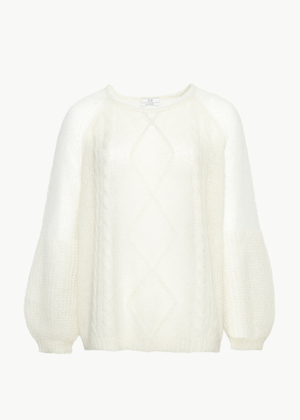 Cable Knit Sweater in Open Weave - Ivory - CO