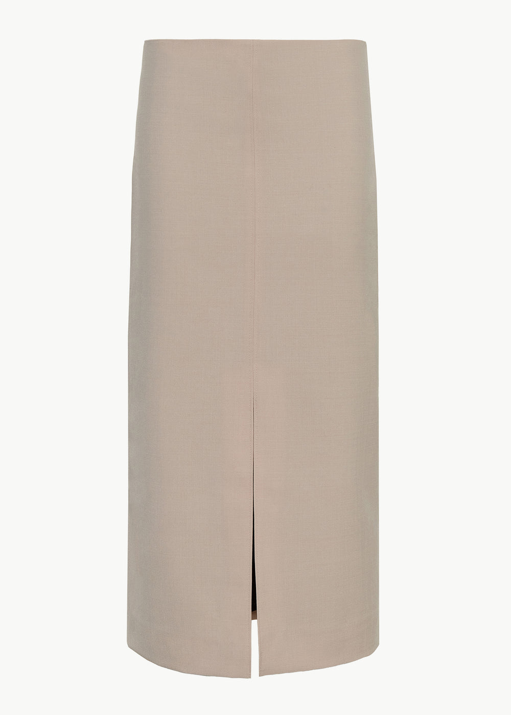Pencil Skirt in Stretch Wool - Beige - CO