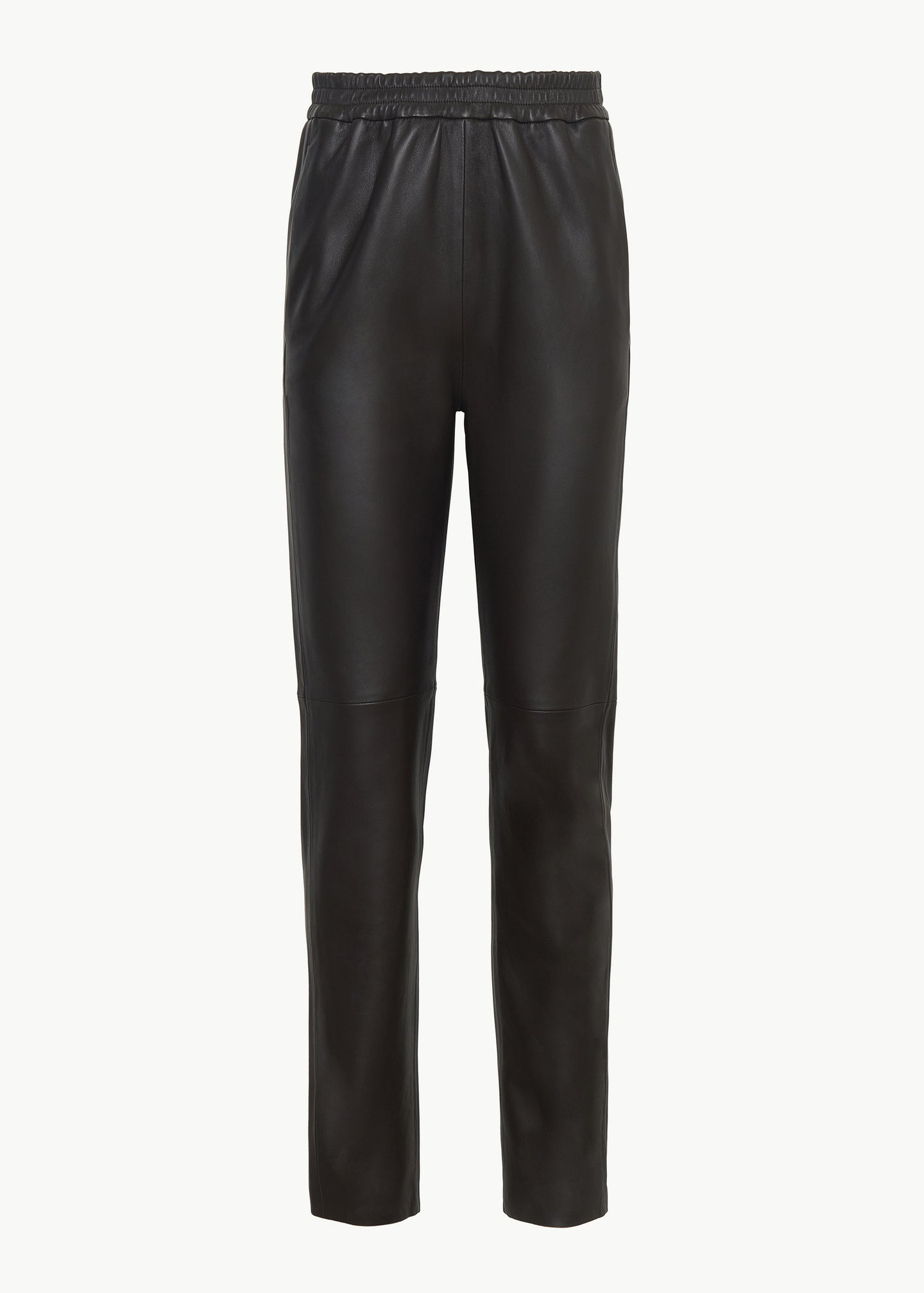 Jogger Pant in Leather - Brown - CO