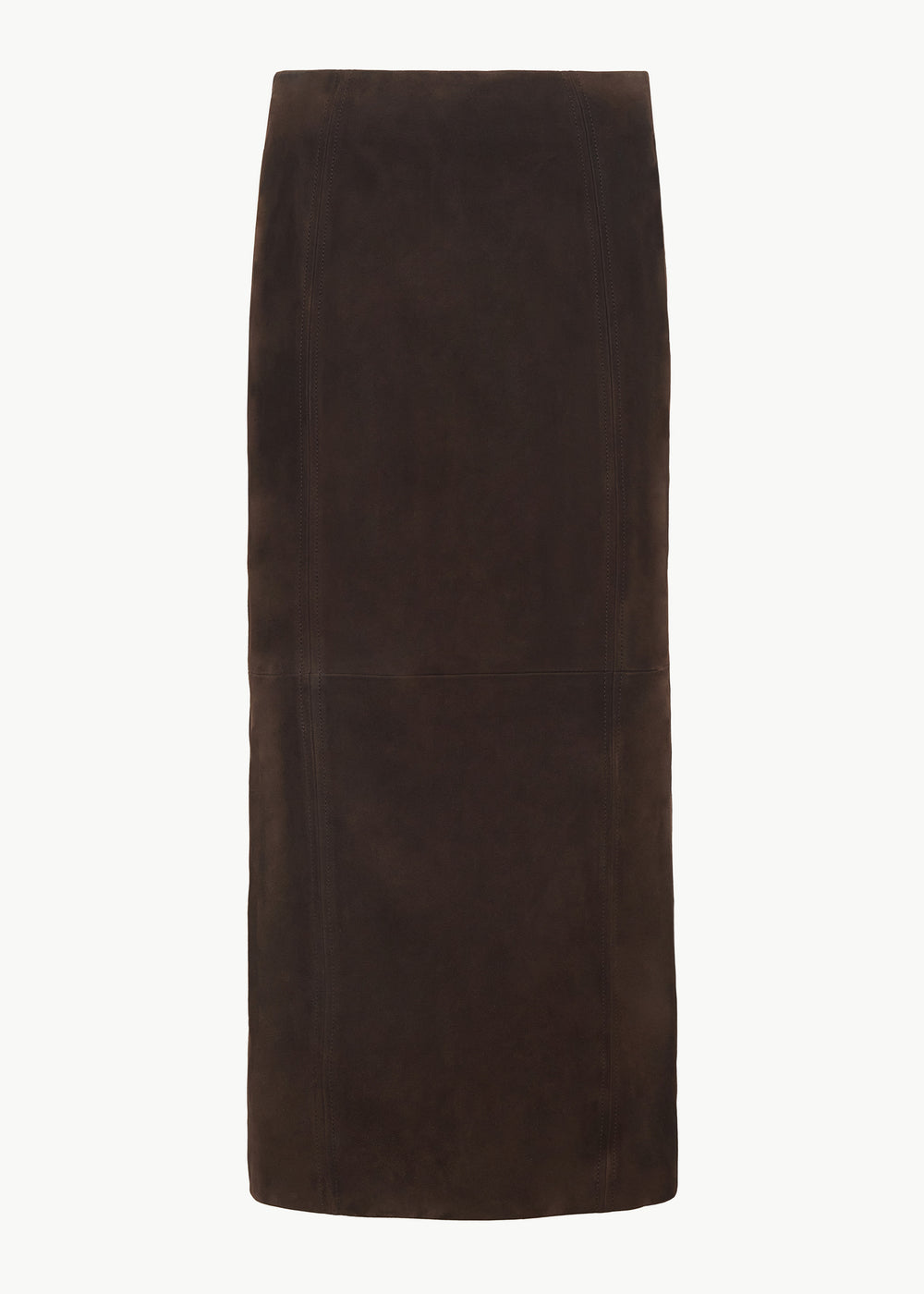 Pencil Skirt in Suede - Brown - CO