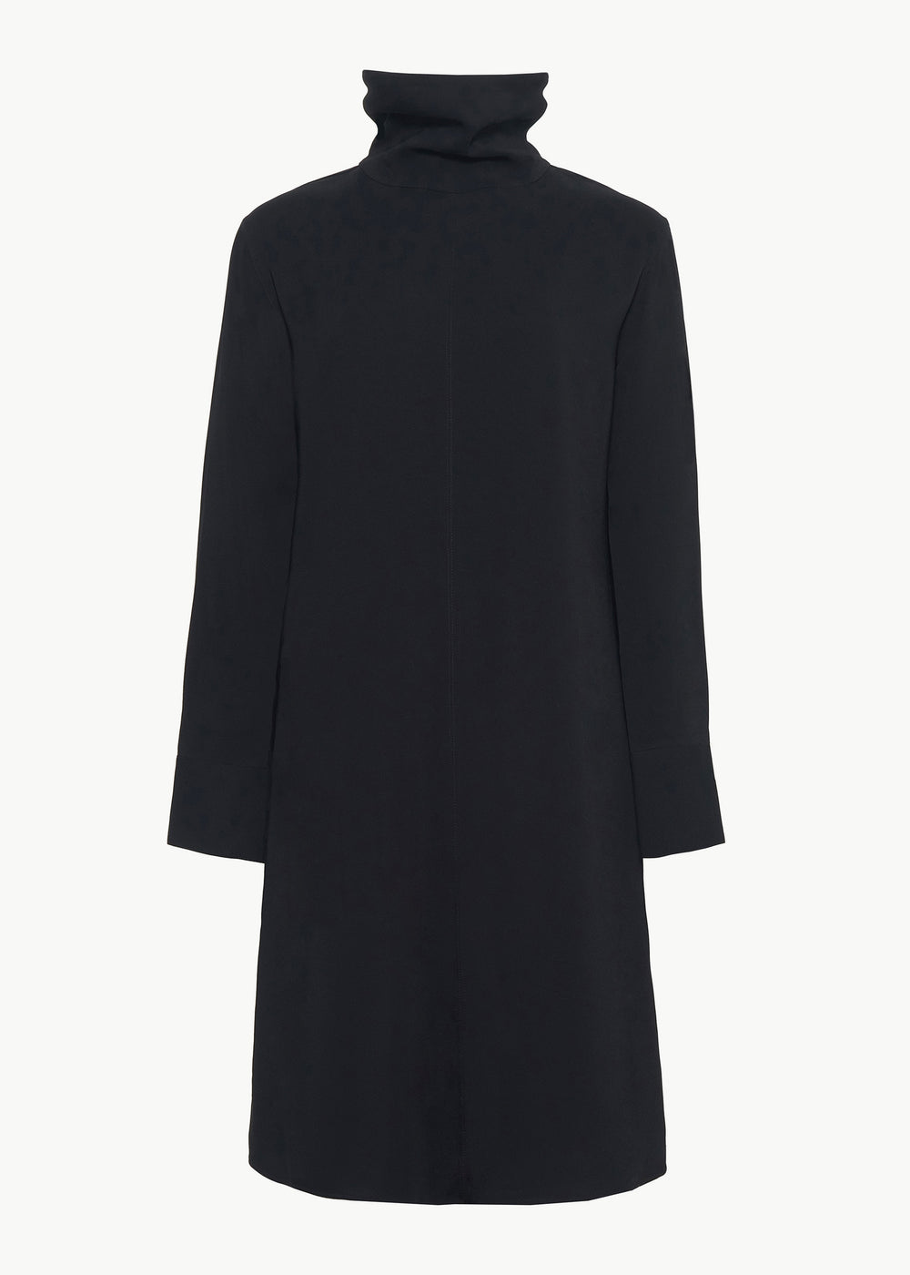 Long Sleeve Dress in Stretch Crepe - Black - CO