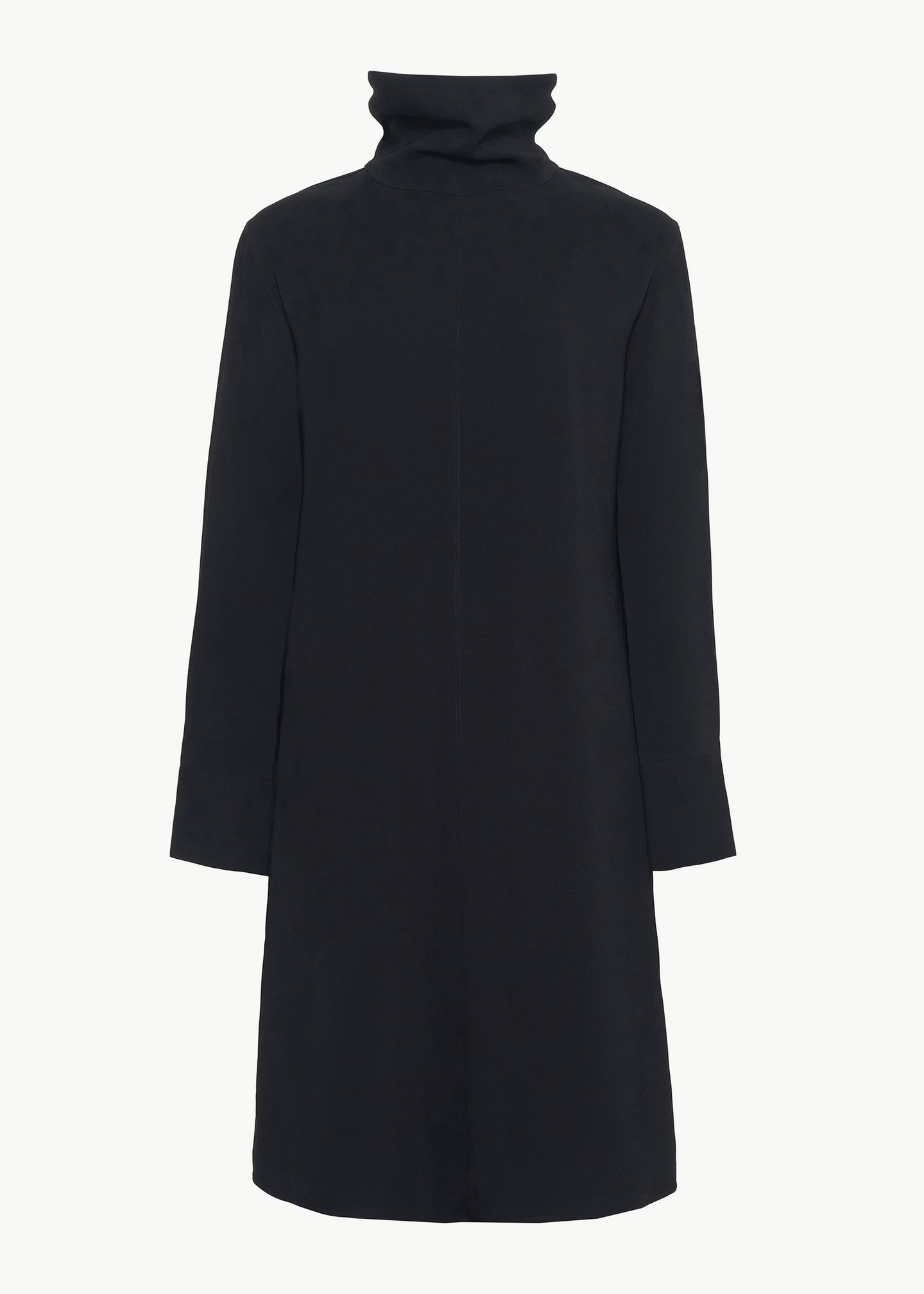 CO - Long Sleeve Dress in Stretch Crepe - Black
