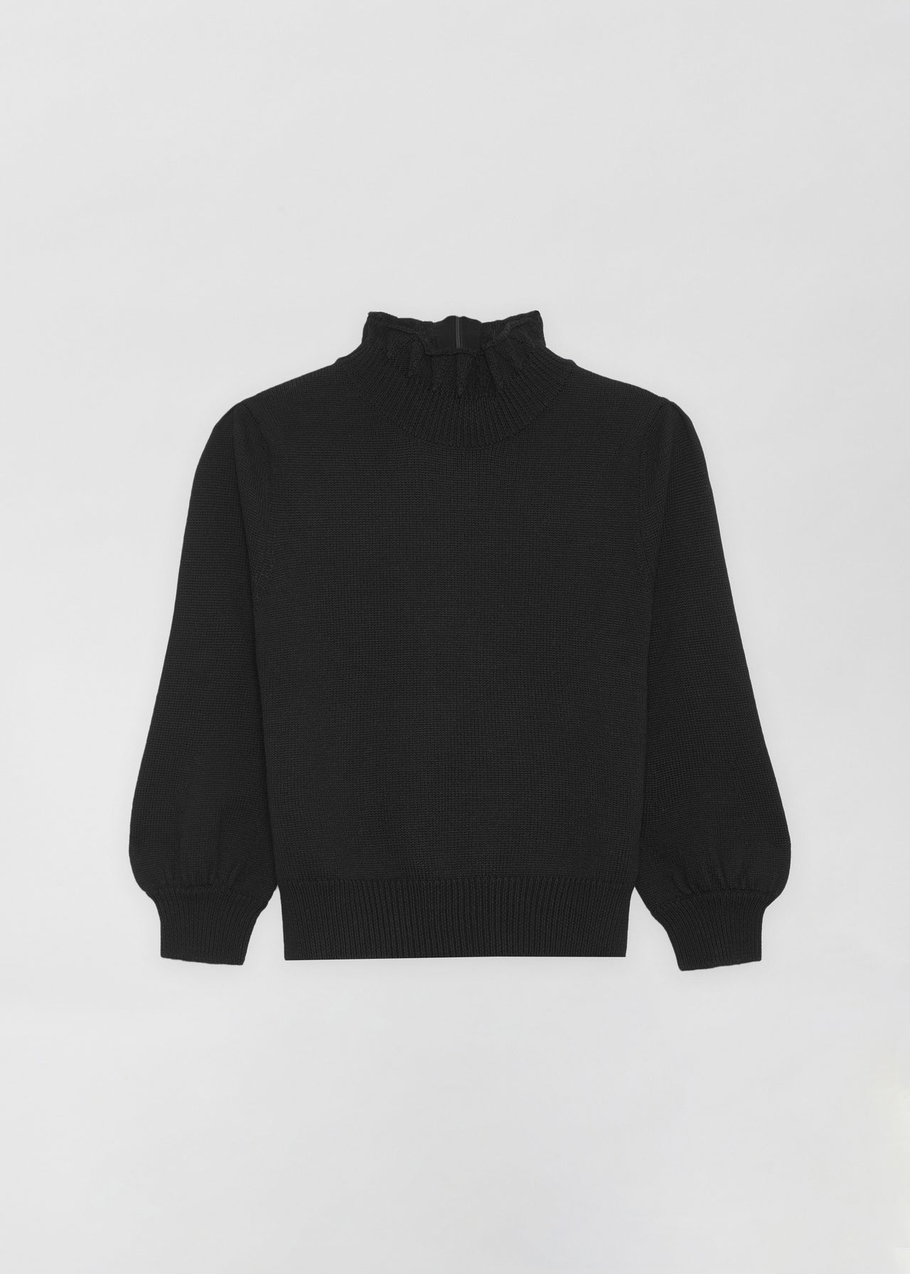 Ruffled Merino Wool Turtleneck - CO Collections