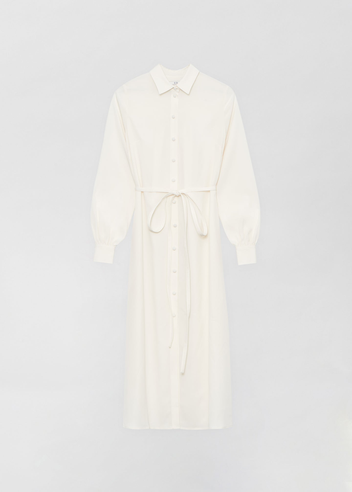 Long Shirt Dress - Ivory - Co Collections