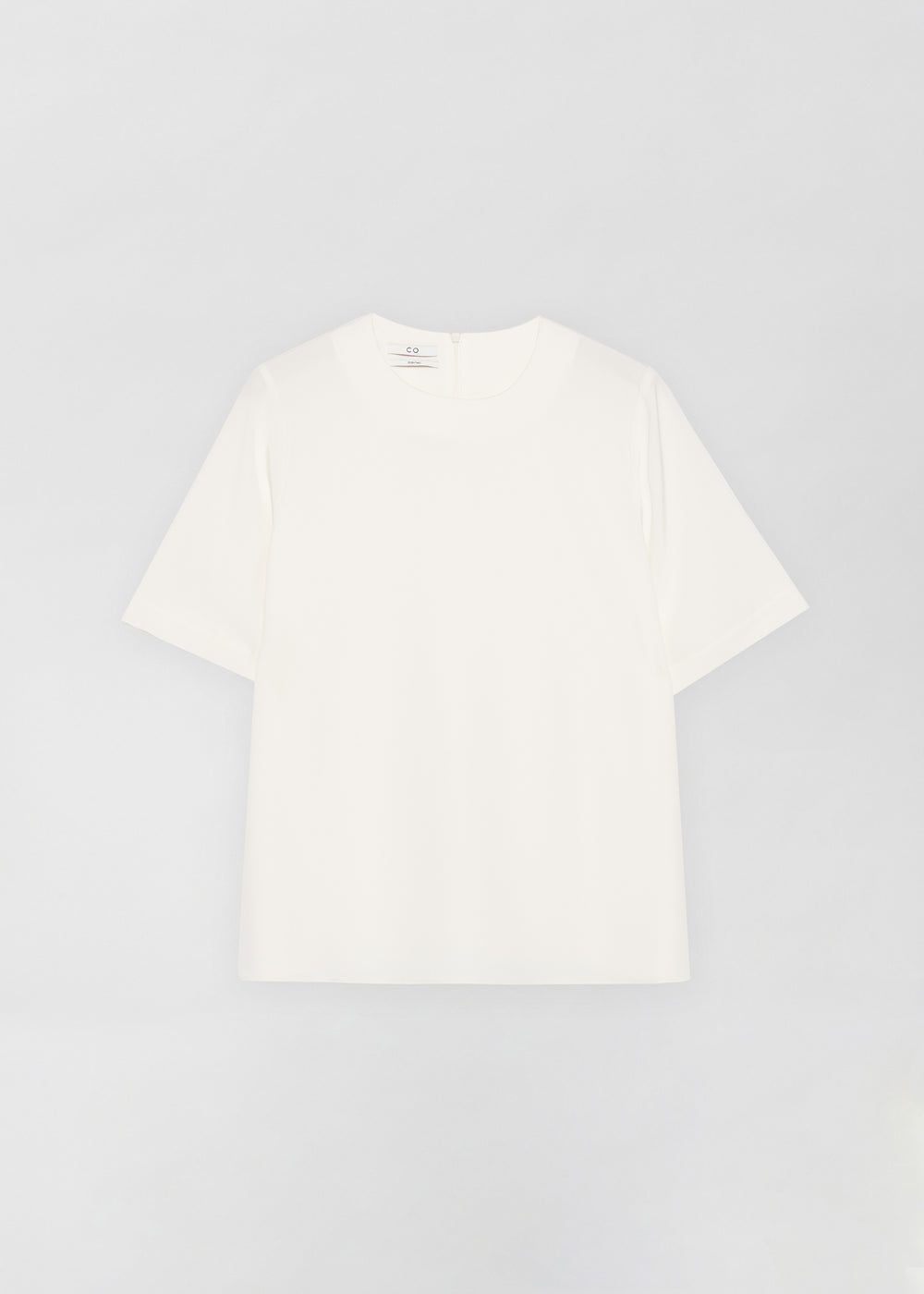 Crepe T-Shirt - Ivory - CO Collections