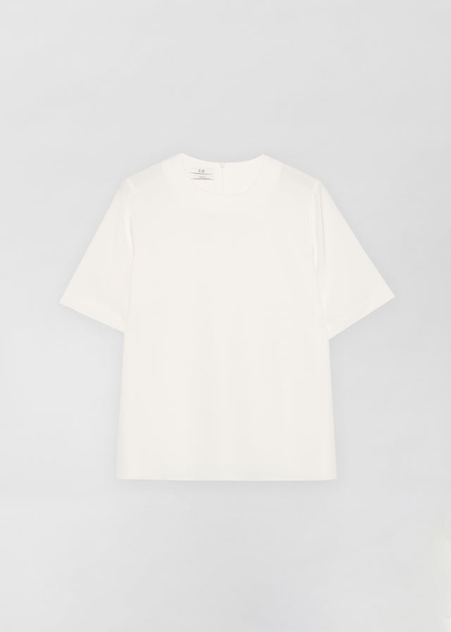 CO - T-Shirt in Stretch Crepe - Ivory