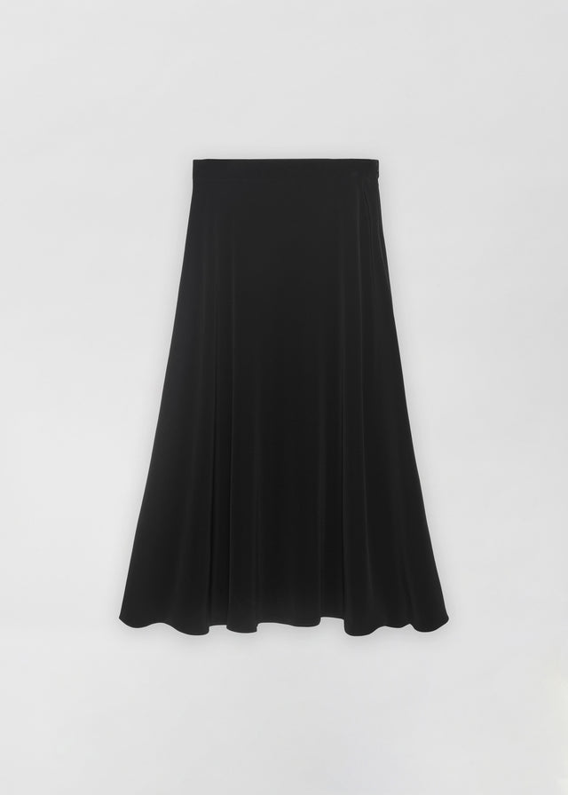 CO - A-Line Skirt in Stretch Crepe - Black