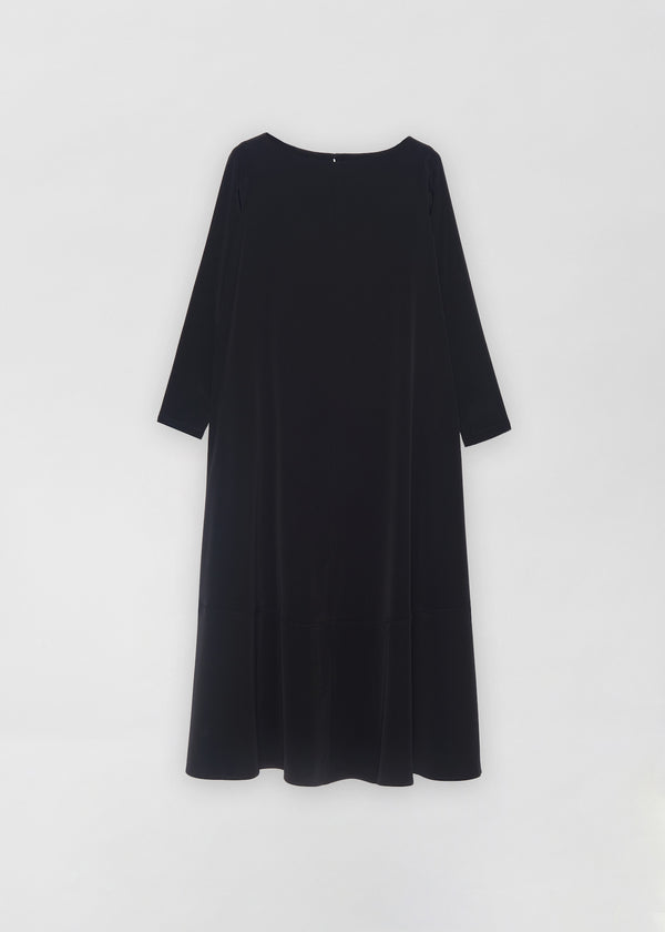 Contrast Hem Caftan - Black - CO
