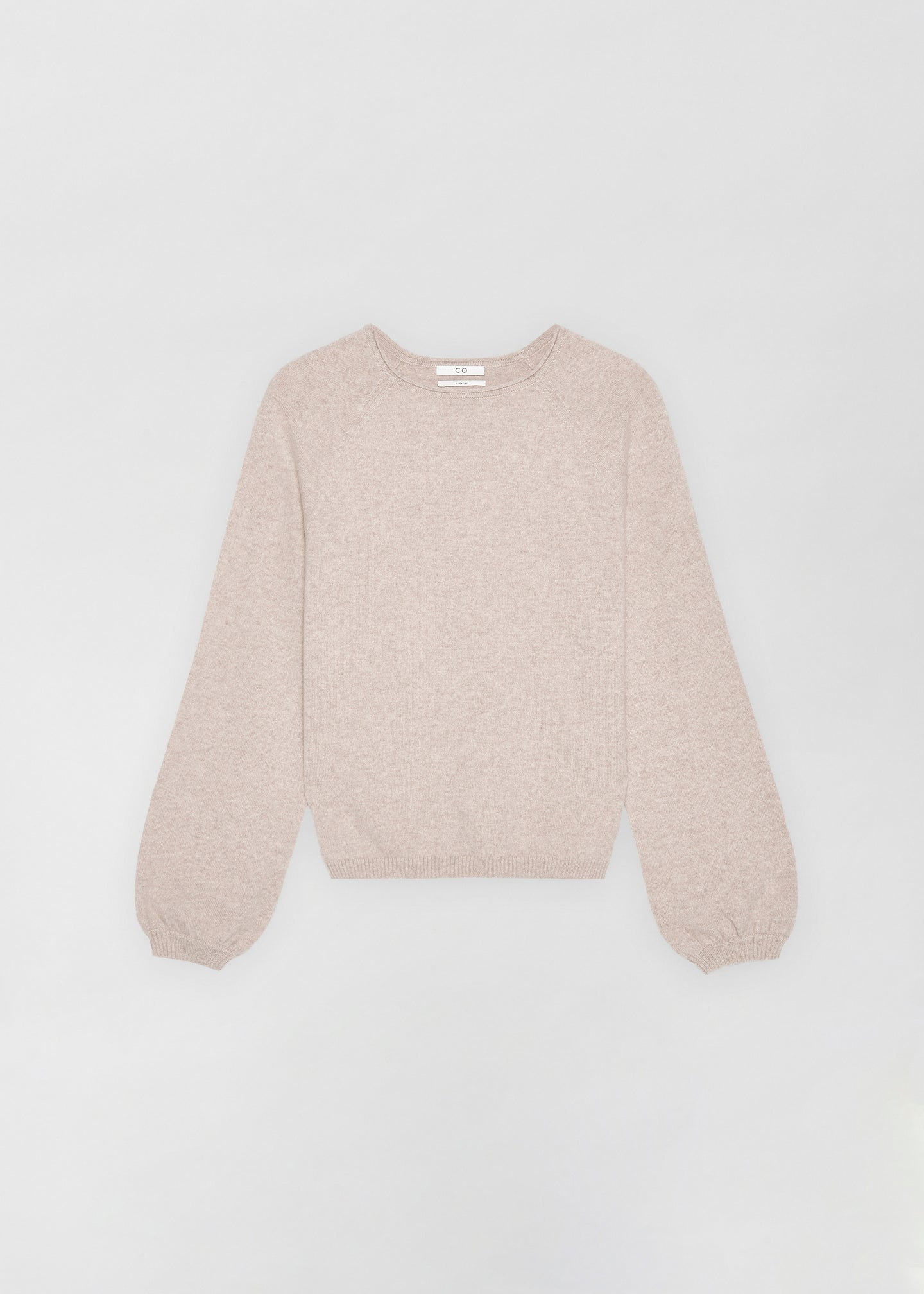 Raglan Peasant Sleeve Sweater - Sand Melange - Co Collections