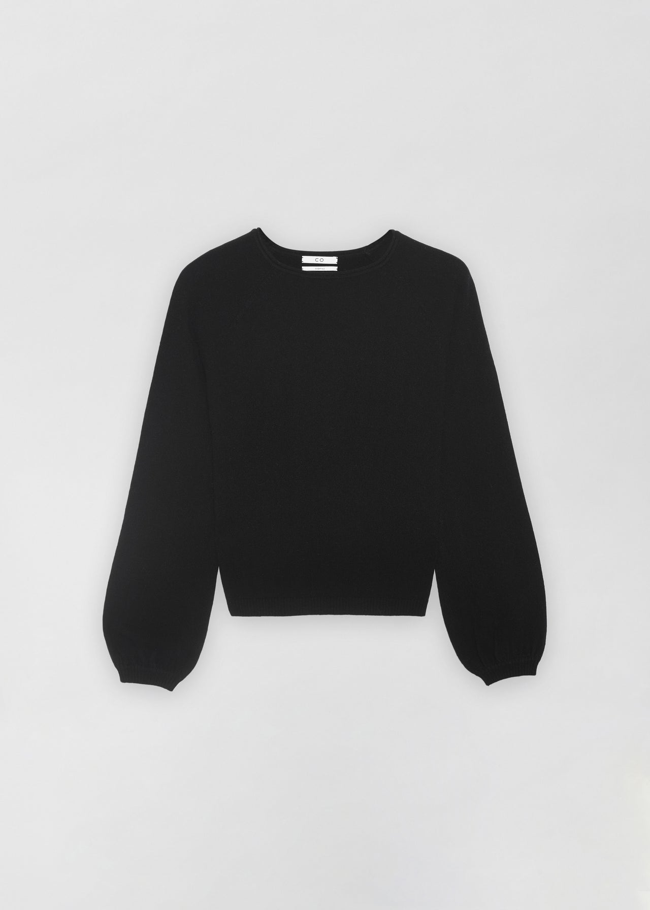 Raglan Peasant Sleeve Sweater - Black