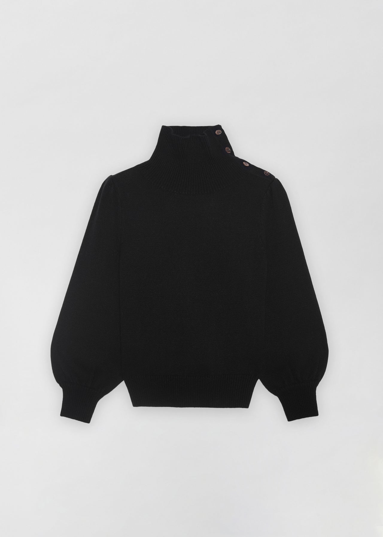 Button Shoulder Sweater - CO Collections