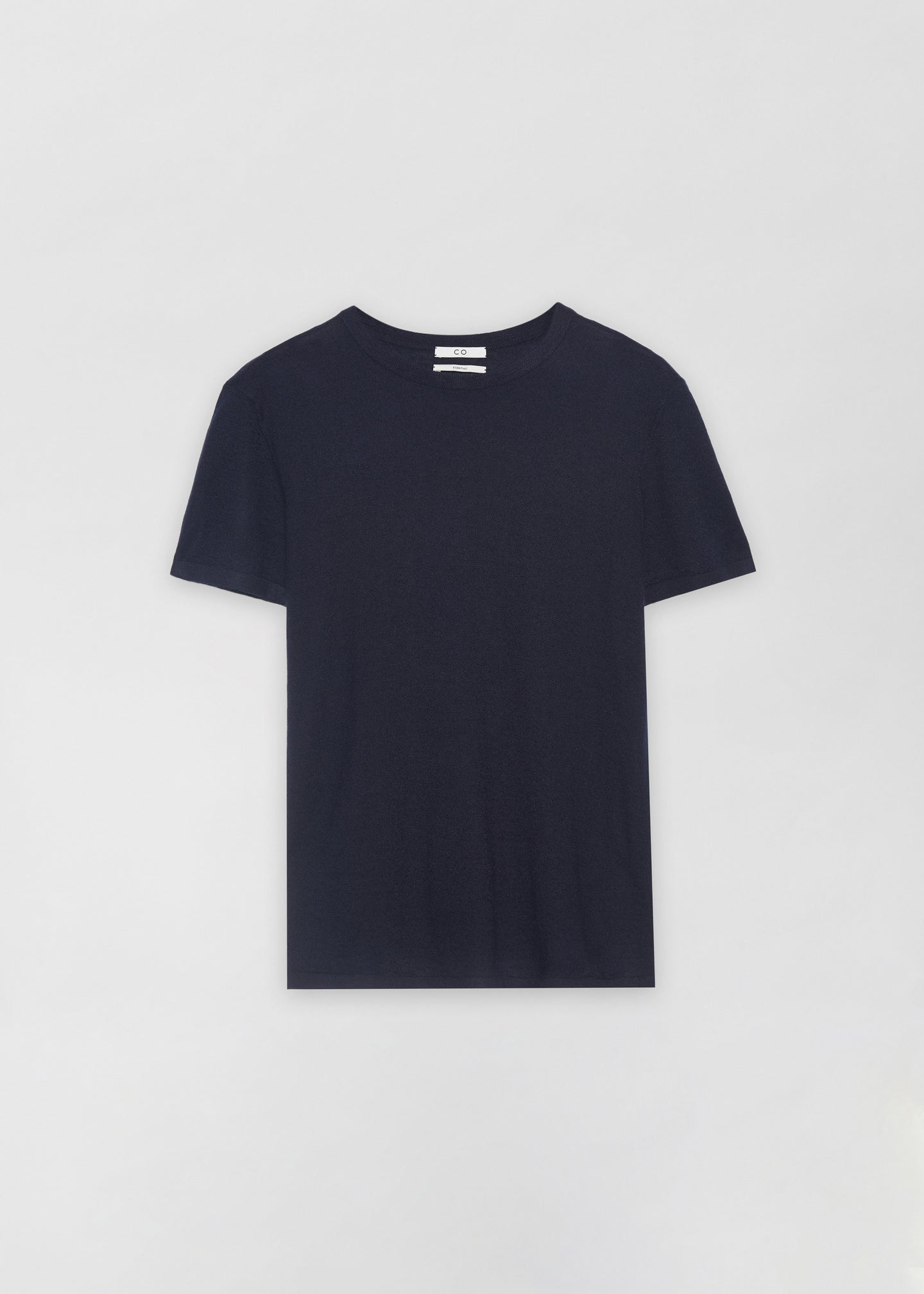 Cashmere T-Shirt - Navy - Co Collections