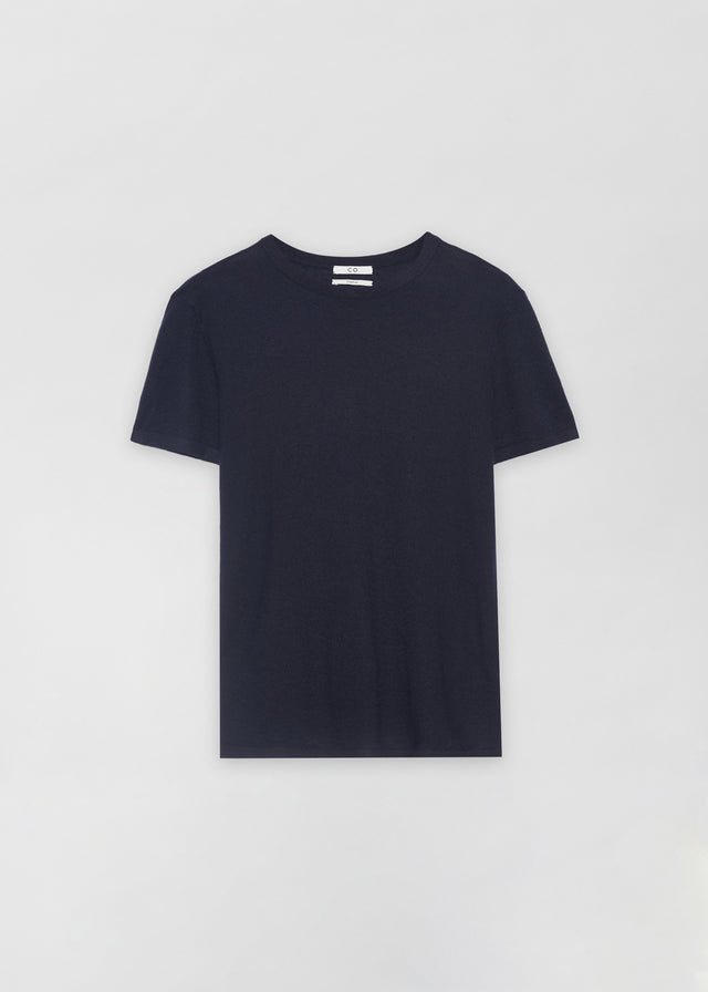 CO - Knit T-Shirt in Cashmere - Navy