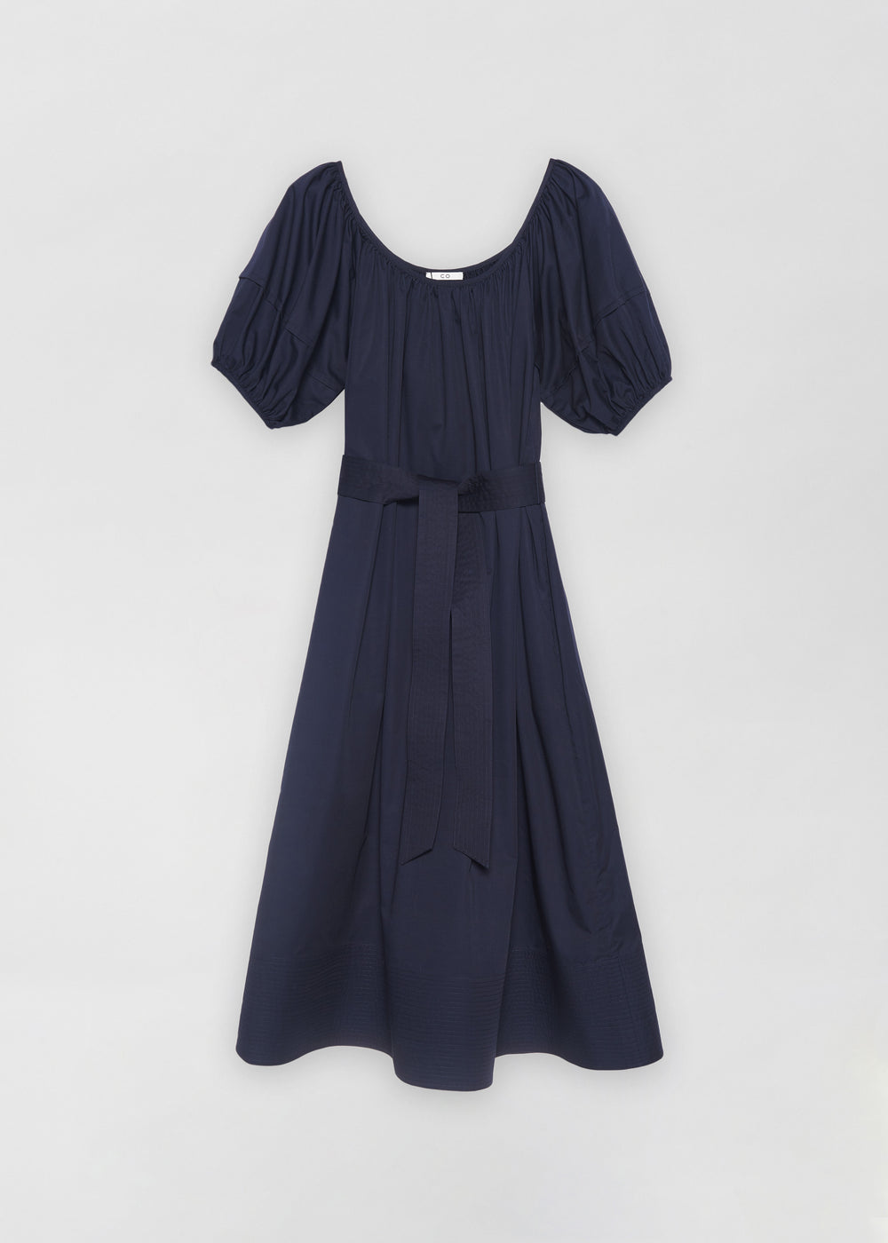 Bubble Sleeve Midi Dress - Navy - CO