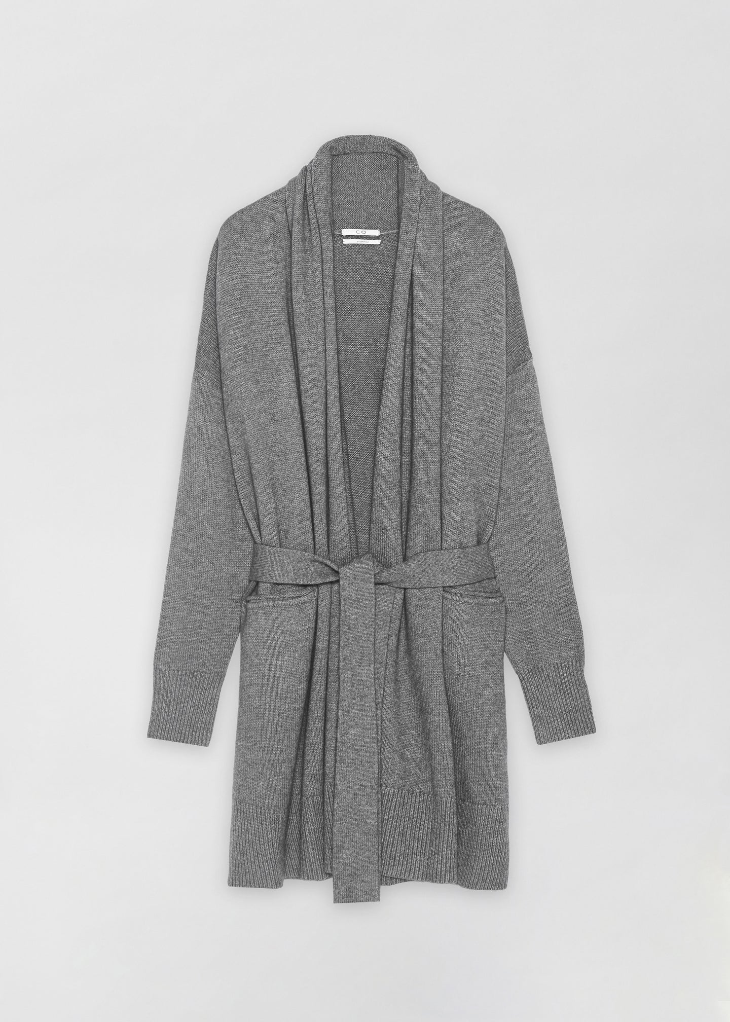 Shawl Collar Cardigan - Grey - CO