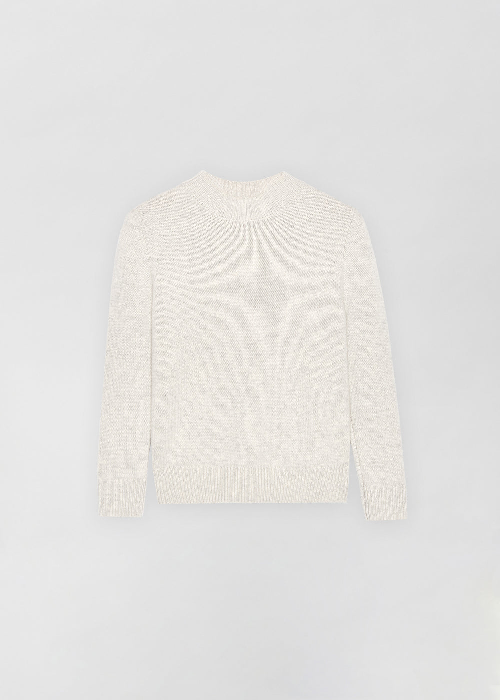 Ruched Cashmere Crew Neck Sweater - Chalk - CO