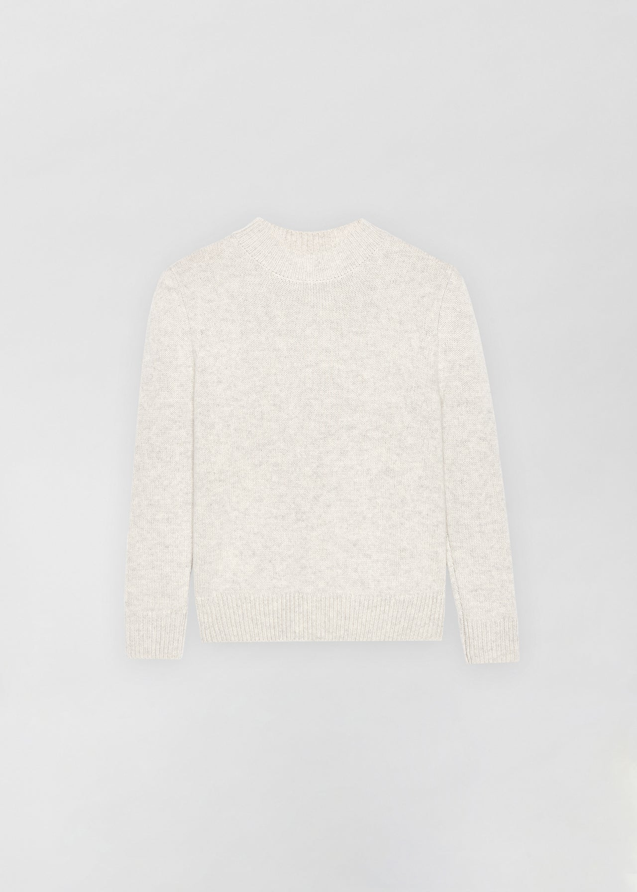 Cashmere Crew Neck Sweater - Chalk