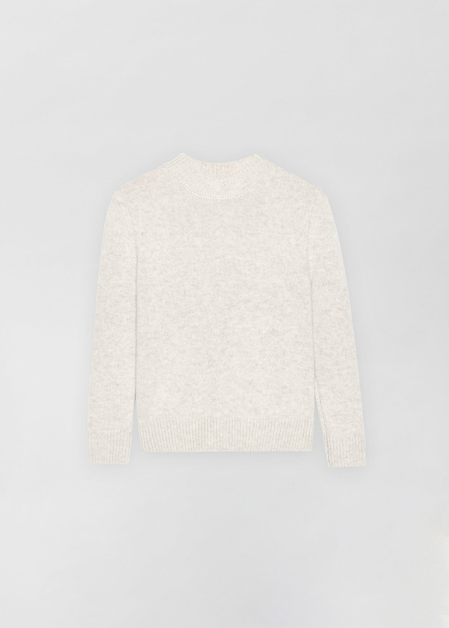 Cashmere Crew Neck Sweater - Chalk - Co Collections