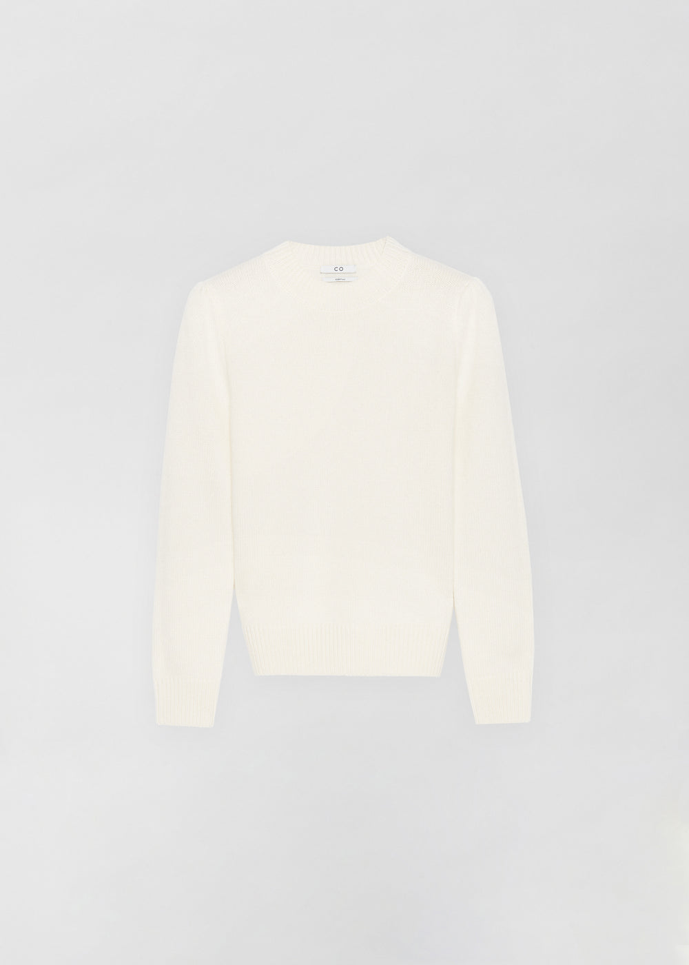 Ruched Cashmere Crew Neck Sweater - Ivory - CO