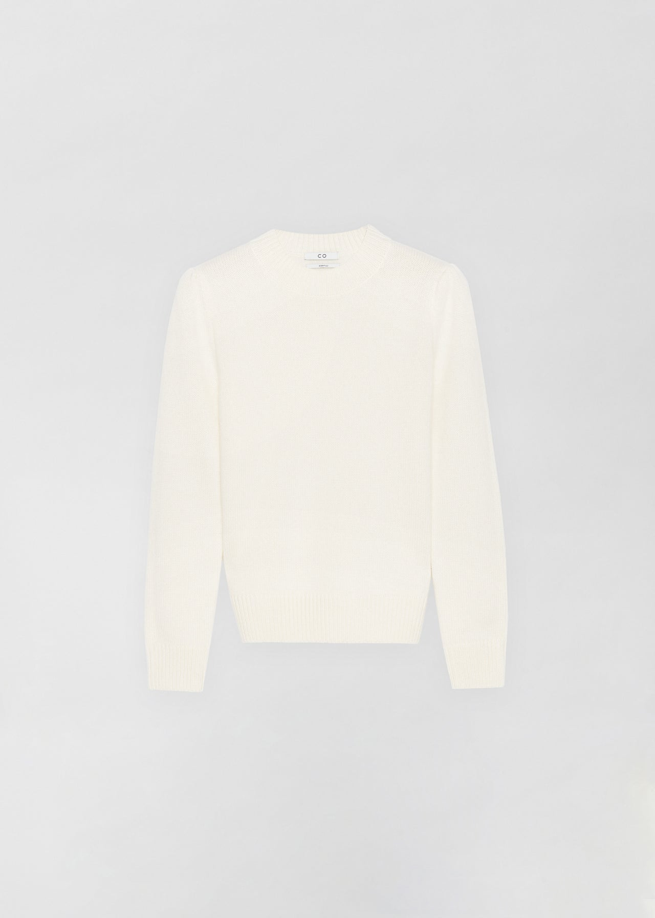 Cashmere Crew Neck Sweater - Ivory