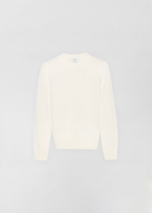 Cashmere Crew Neck Sweater - Ivory - Co Collections