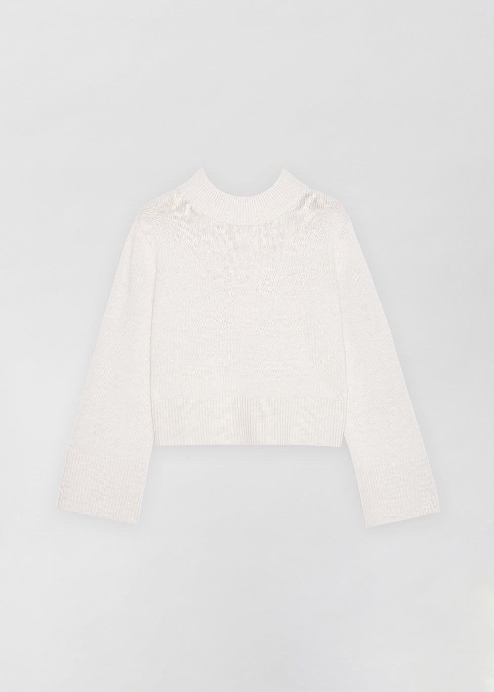 Boxy Crew Neck Sweater - Ivory in Dove Grey by Co Collections