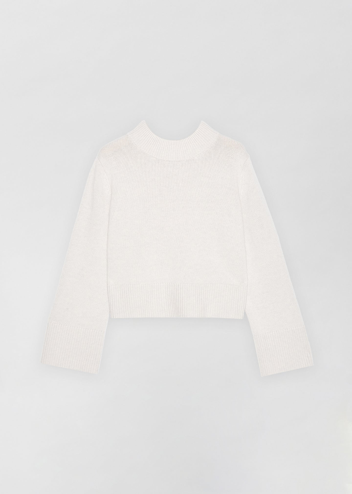 Boxy Crew Neck Sweater - Dove Grey - CO