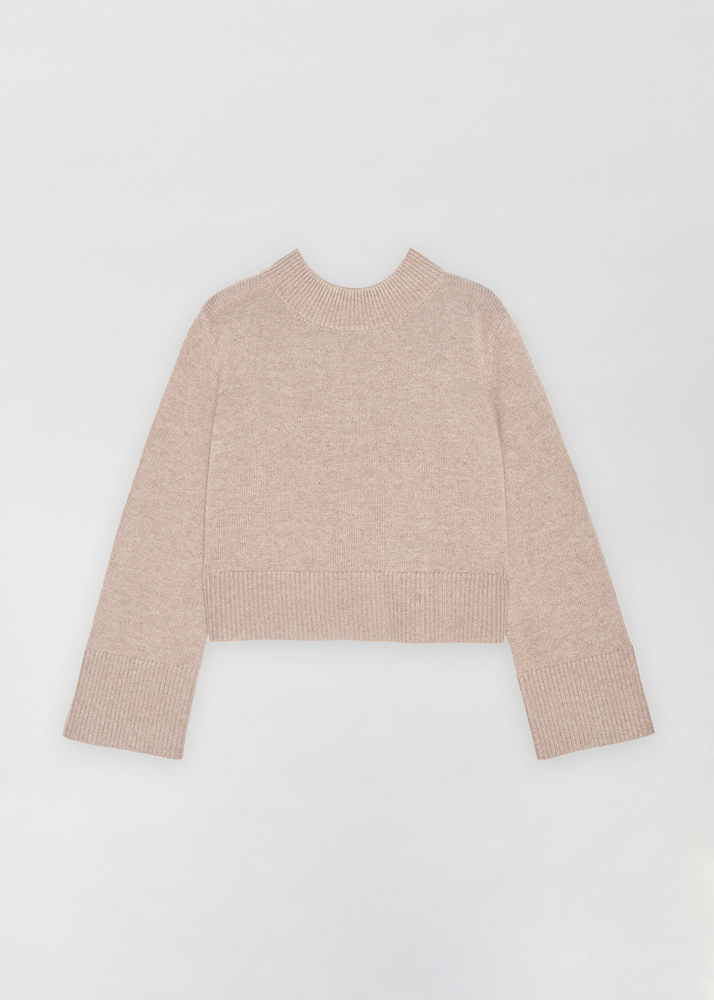 Boxy Crew Neck Sweater - Ivory in Taupe by Co Collections