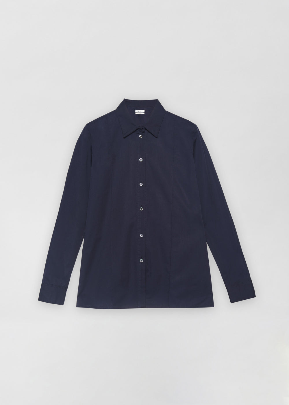 Tucked Placket Button Down Shirt - Navy - CO Collections