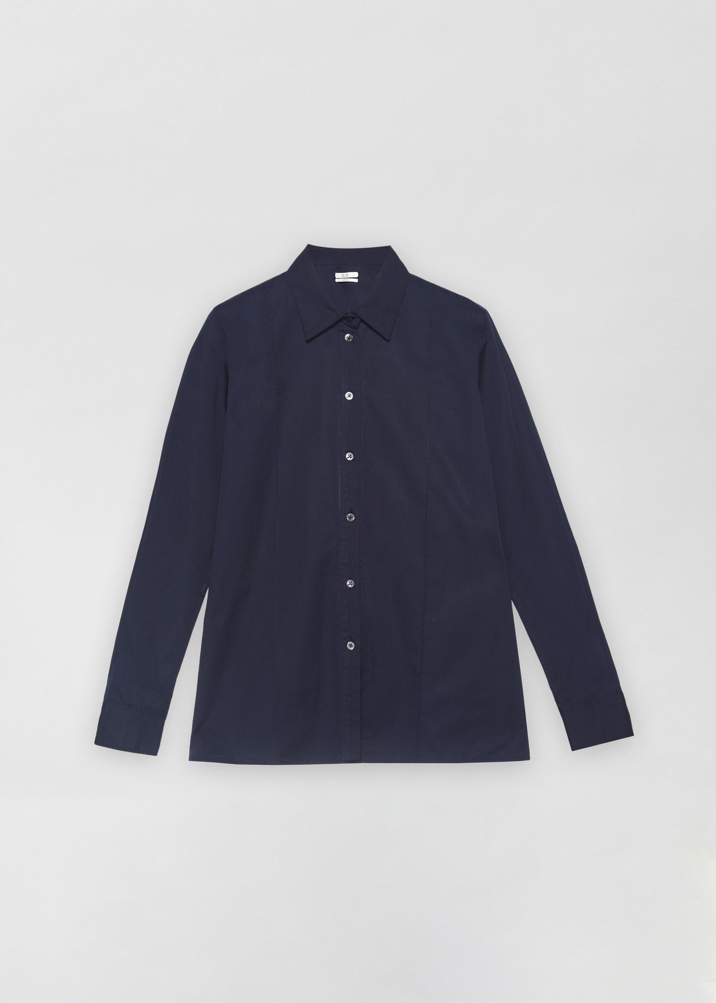 Tucked Placket Button Down Shirt - Navy - CO
