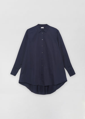 A-Line Buttondown Shirt - Navy - Co Collections