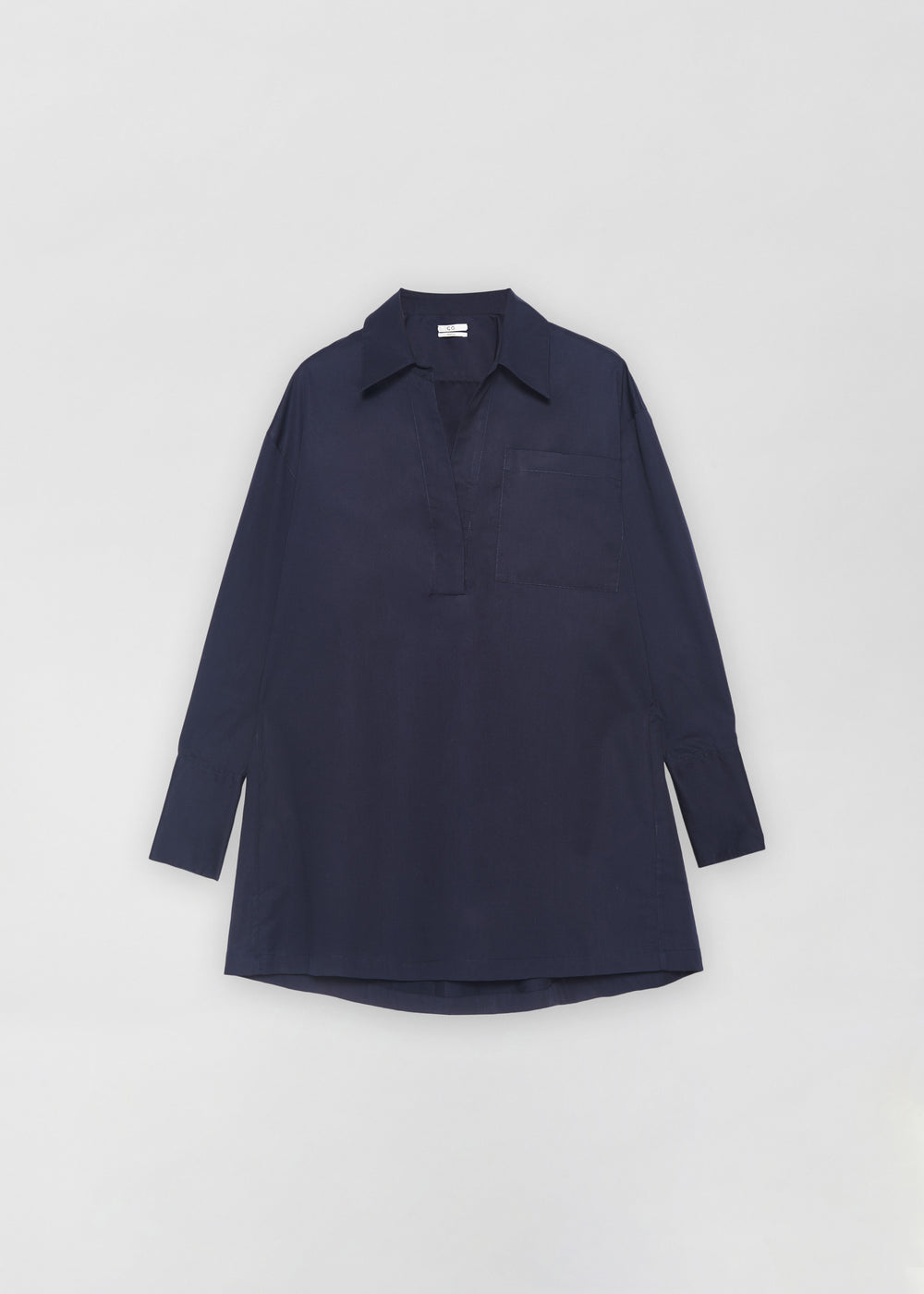 Half Placket Shirt - Navy - CO Collections