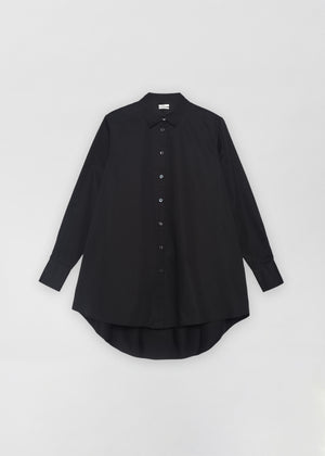 A-Line Buttondown Shirt - Black - CO