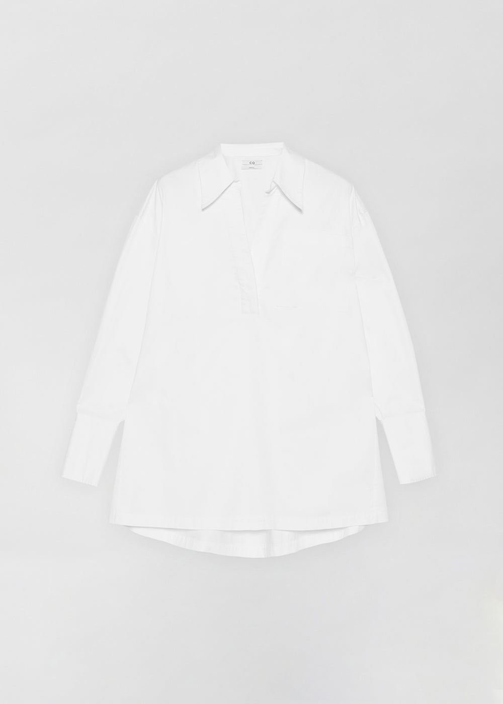 Half Placket Shirt - White - CO Collections