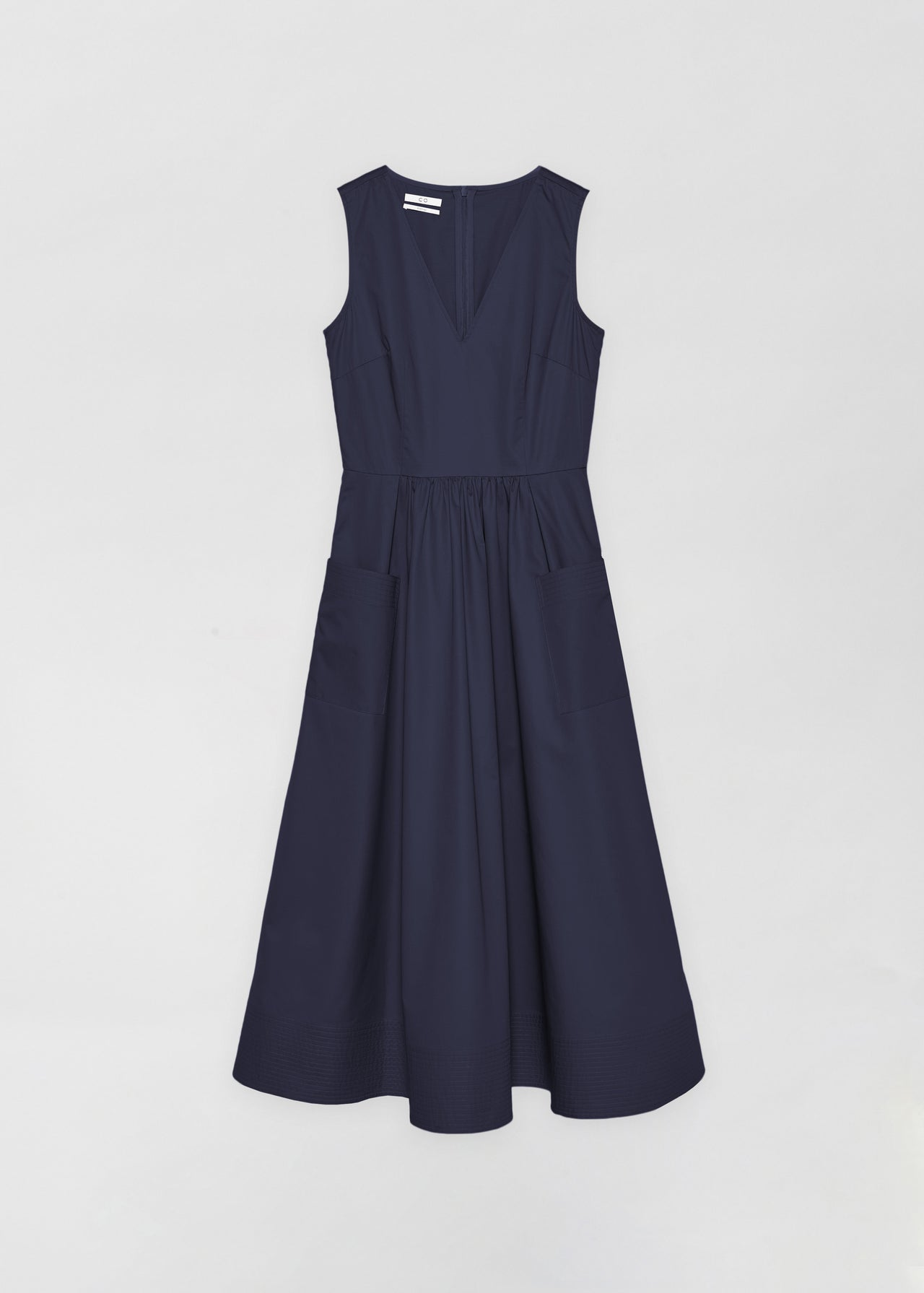 Sleeveless Trapunto Hem Dress - CO Collections