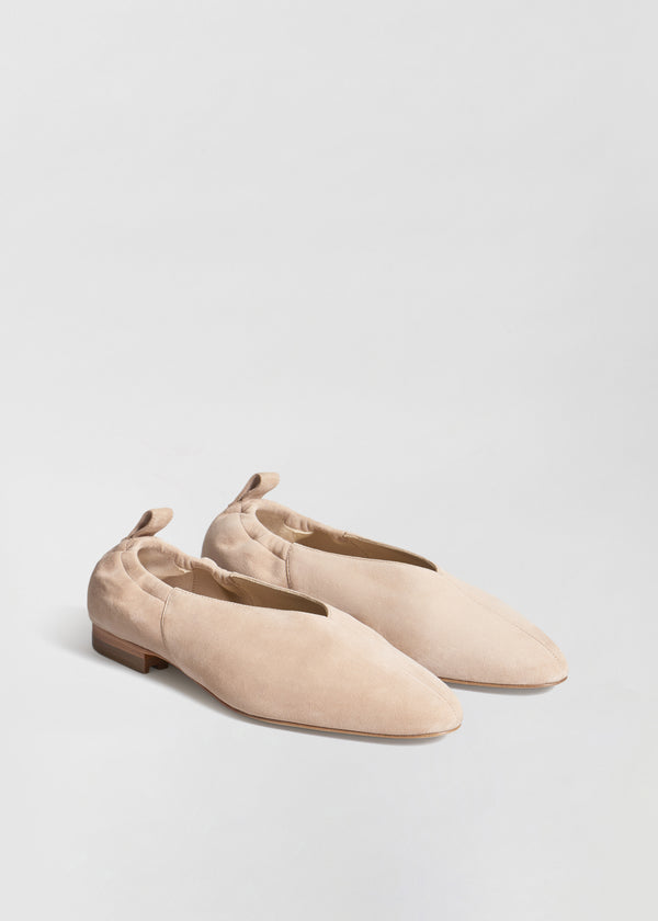 Ballet Flat in Suede - Sand - CO