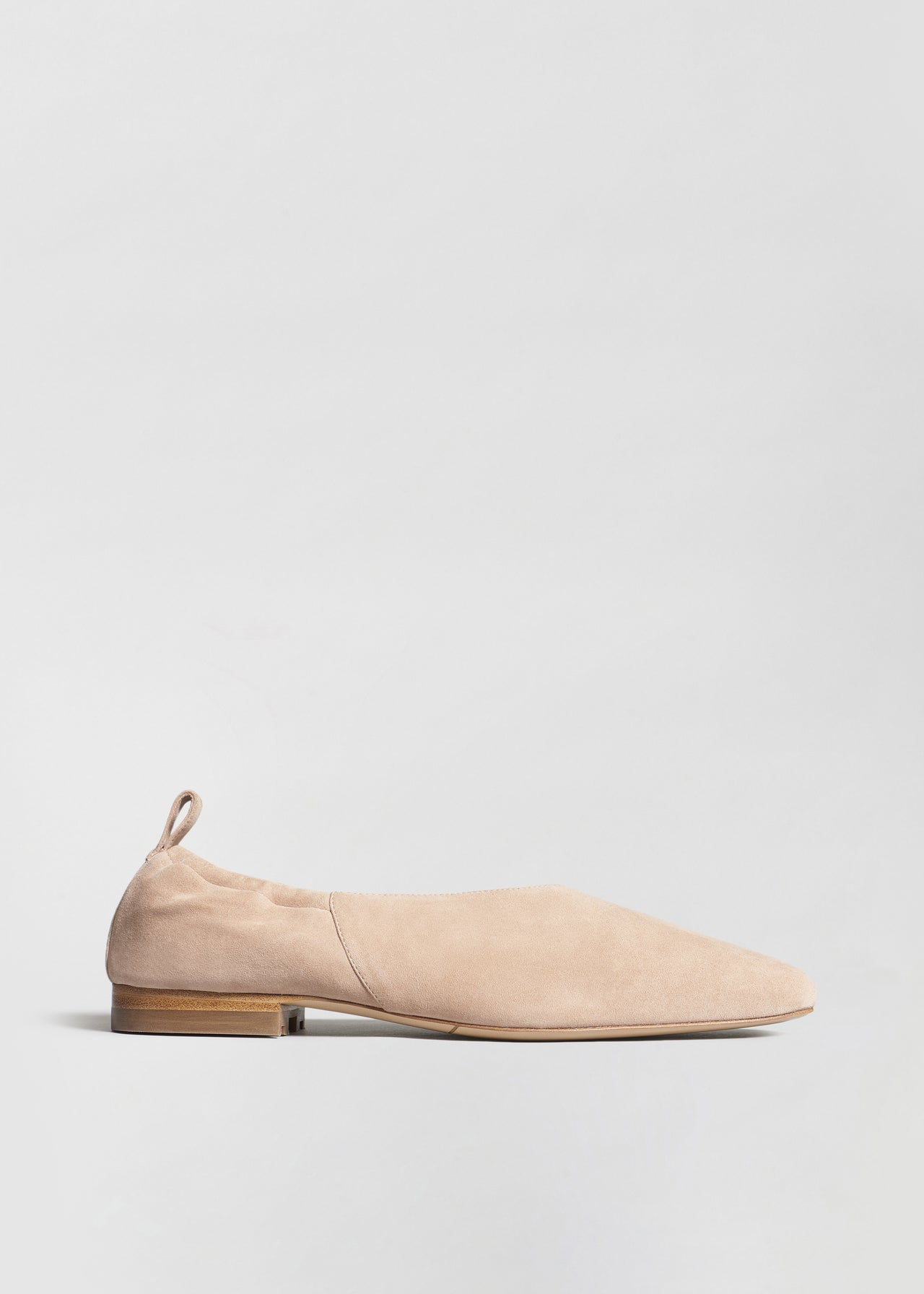 Ballet Flat in Suede - Sand