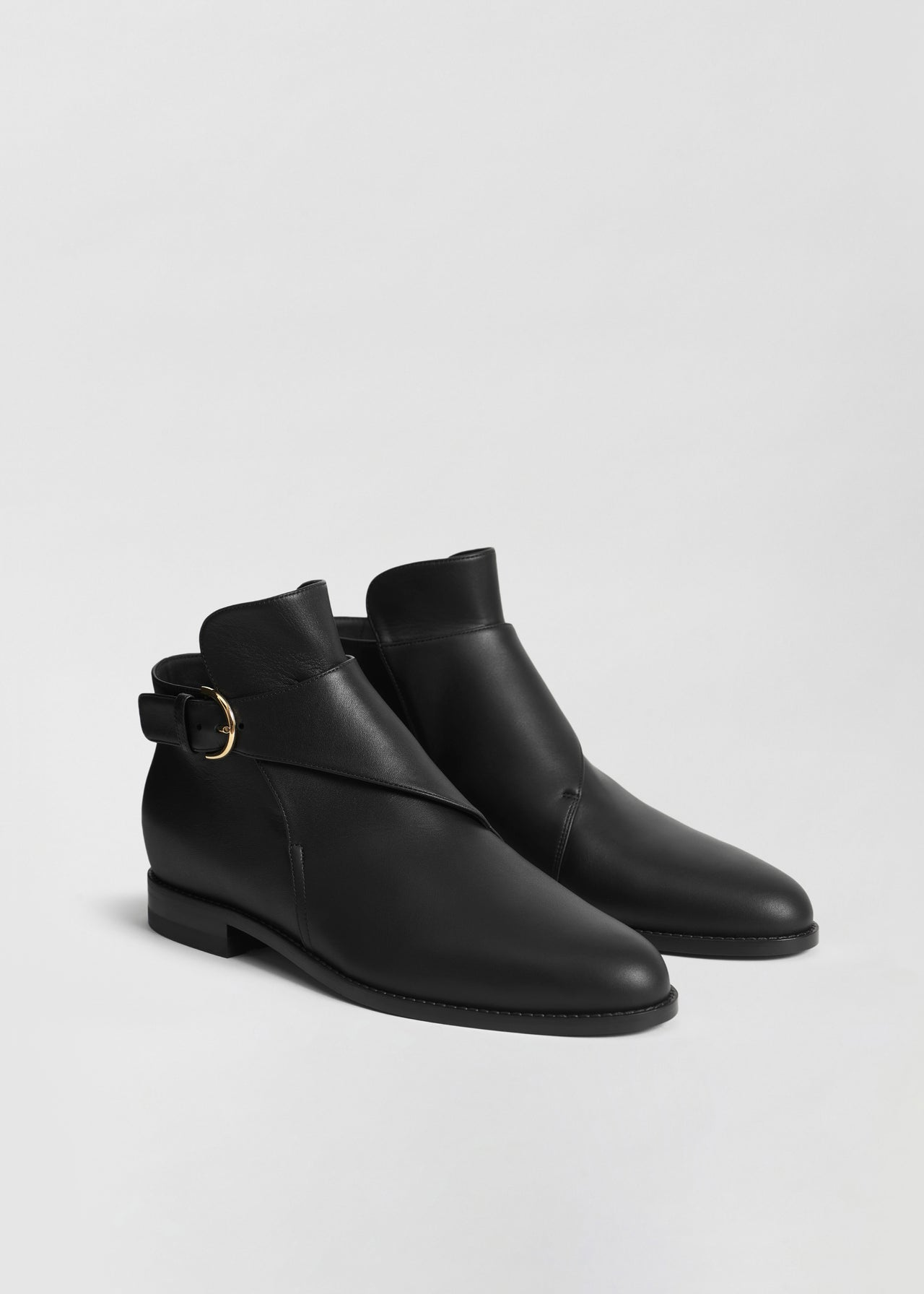 Monk Boot in Smooth Leather - Black