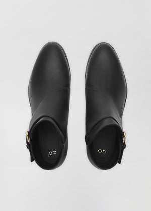 Monk Boot in Smooth Leather - Black - Co Collections