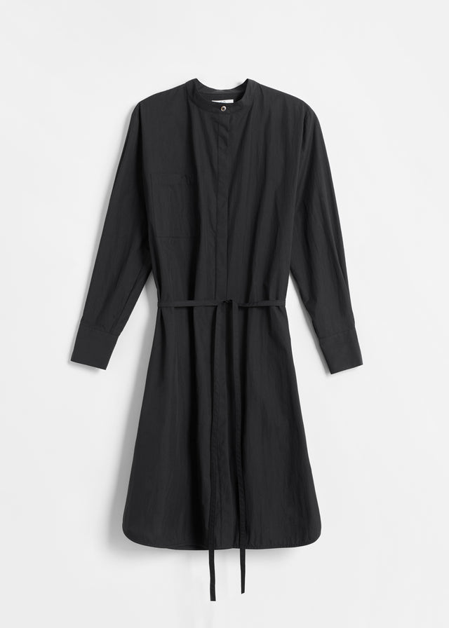 CO - Belted Long Sleeve Tunic in Cotton - Black